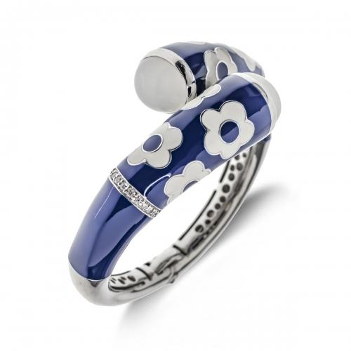Belle Etoile Blue Fleur Twisted Bracelet