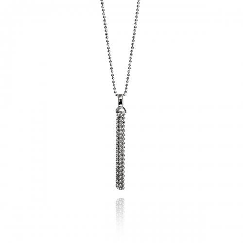 Zinzi Sterling Silver Strand Drop Necklace Set