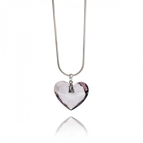 Zinzi Rose Swarovski Heart Necklace Set