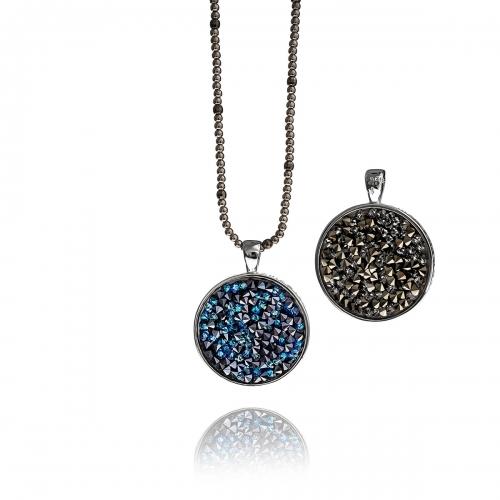 Zinzi Double Sided Swarovski Crystal Necklace Set
