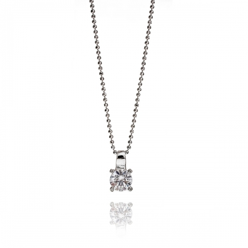 Zinzi CZ Pendant Necklace Set