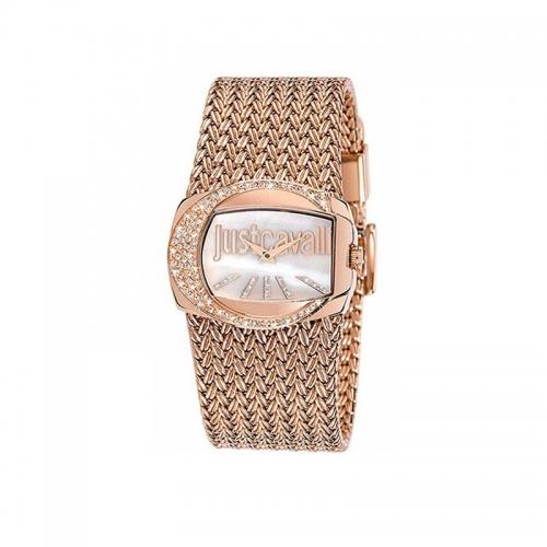 Just Cavalli Ladies Rose Gold Rich Watch R7253277002