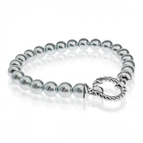 Zinzi Silver Pearl Beaded 19cm Bracelet ZIA401G & Silver Lock ZI360