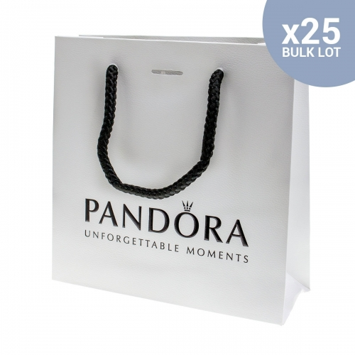 25 Genuine Pandora Small Gift Bags New and Sealed - BULK LOT