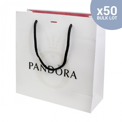 50 Genuine Pandora Large Gift Bags New and Sealed - BULK LOT