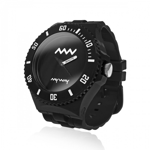 MyWayMyWatch Black Interchangeable Unisex Watch MW-C2-Black