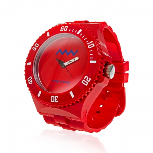 MyWayMyWatch Red Interchangeable Unisex Watch MW-C2-Red