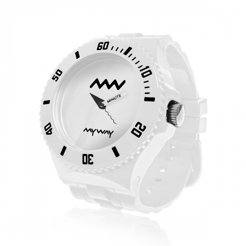 MyWayMyWatch White Interchangeable Unisex Watch MW-C2-White