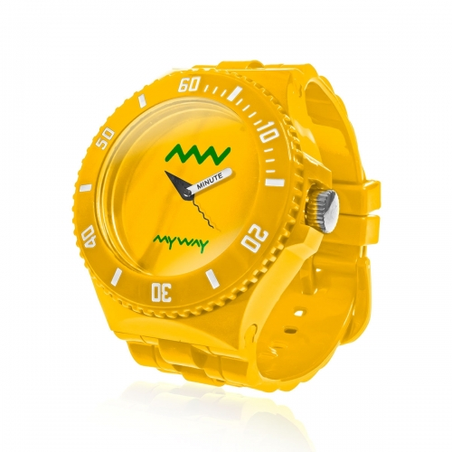 MyWayMyWatch Yellow Interchangeable Unisex Watch MW-C2-Yellow
