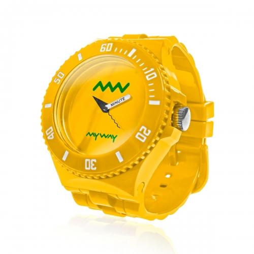 MyWayMyWatch Yellow Interchangeable Unisex Watch MW-C2-Yellow