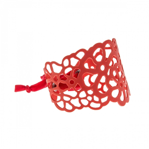 Tatu by Niente Paura Red Flower Bracelet NP-Red001