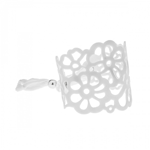 Tatu by Niente Paura White Flower Bracelet NP-White001