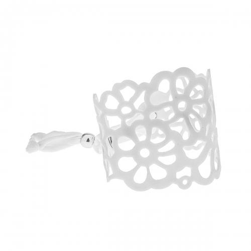 Tatu by Niente Paura White Flower Bracelet NP-White001