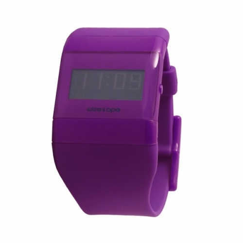 WIZE AND OPE CLASSIC PURPLE DIGITAL WATCH WO-ALL-16