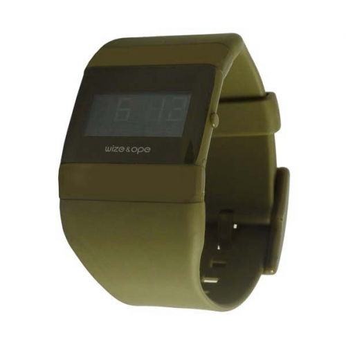 WIZE AND OPE CLASSIC KHAKI DIGITAL WATCH WO-ALL-19