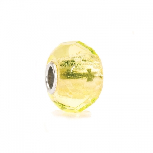 EX DISPLAY: Trollbeads Lime Prism Silver & Glass Bead 60191