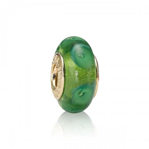 Pandora Green Mystic Murano Glass Charm 750405