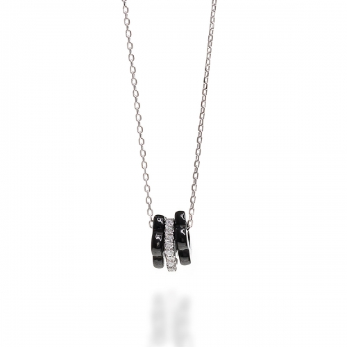 Claudine Silver Multi Pendant Necklace