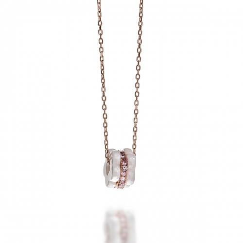 Claudine Rose Gold Multi Pendant Necklace