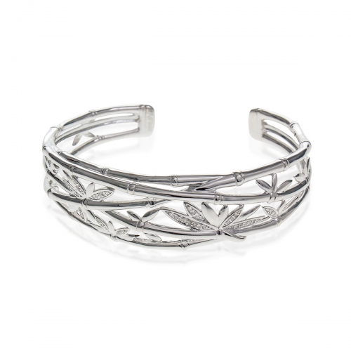 Storywheels Fine Silver & Diamond Bangle B7786D