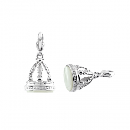 Storywheels Silver & Mother of Pearl Dangle Charm CH312WMOP