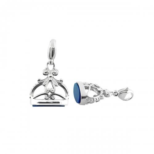 Storywheels Silver & Lapis Dangle Charm CH314LAP