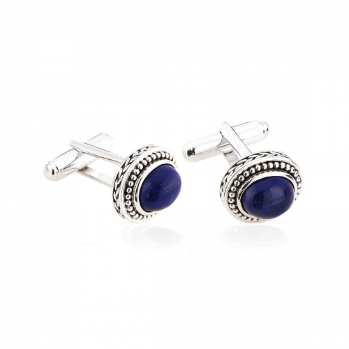 Storywheels Silver & Lapis Cufflinks CL4LAP