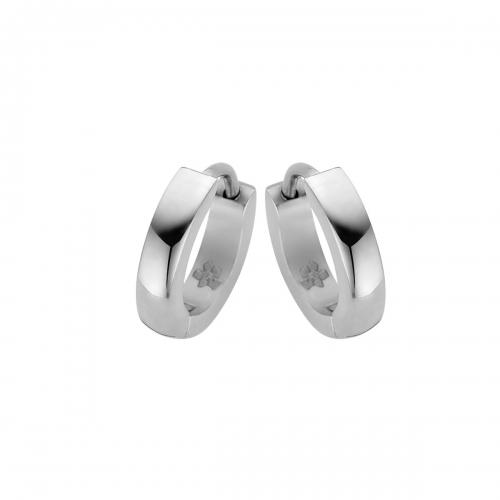 Nicky Vankets Silver Small Hoop Earrings