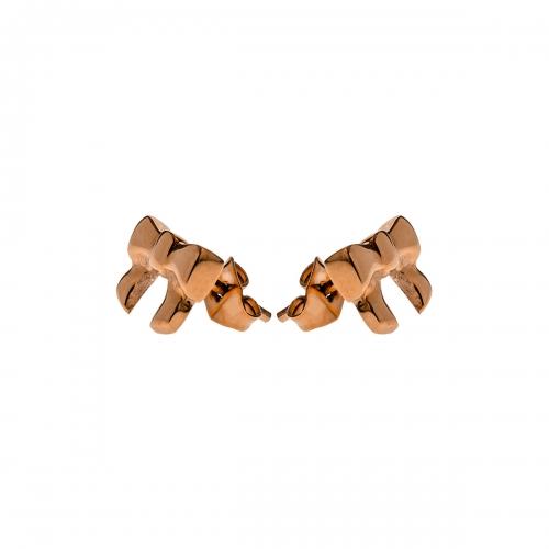 Nicky Vankets Rose Gold Bow Stud Earrings