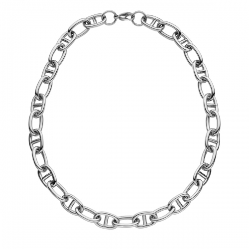Nicky Vankets Silver Gucci Link Necklace