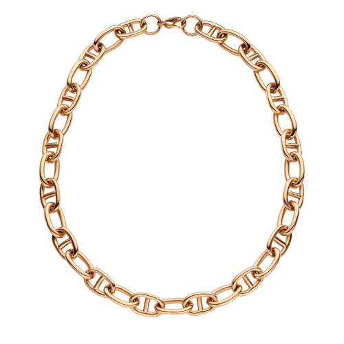Nicky Vankets Rose Gold Gucci Link Necklace