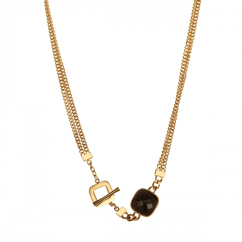 Nicky Vankets Geometric Rose Gold Necklace