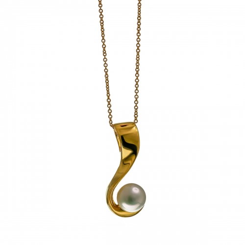 Nicky Vanket Gold & Pearl Necklace