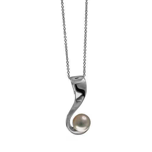 Nicky Vanket Silver & Pearl Necklace