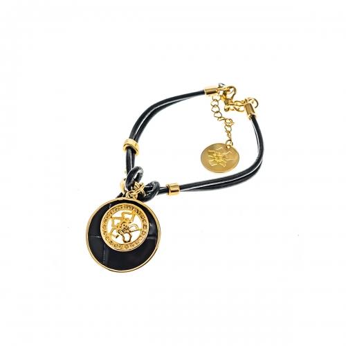 Nicky Vankets Black and Gold Bracelet