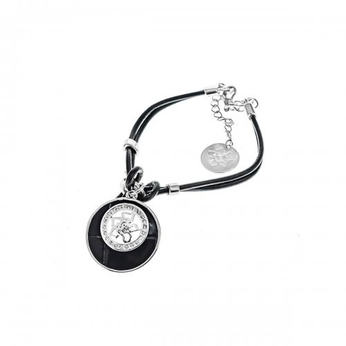 Nicky Vankets Black and Silver Bracelet