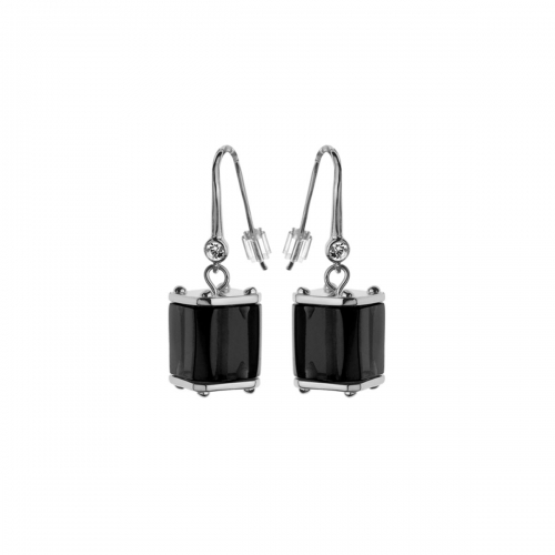 Nicky Vankets Black Cube Dangle Earrings