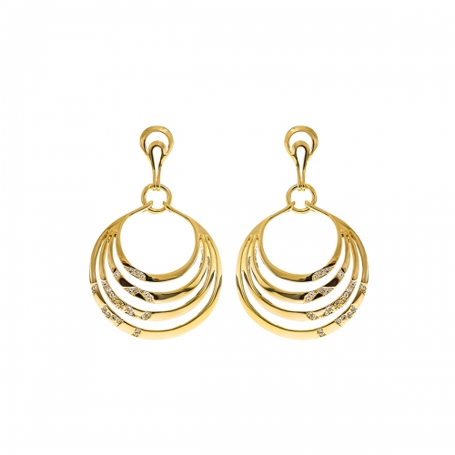 Nicky Vankets Gold Cut Out Disc Earrings