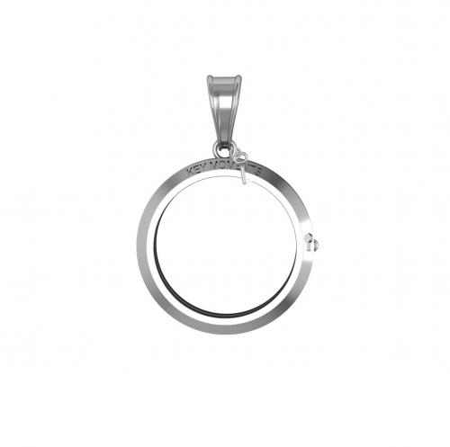 Key Moments Small Silver Pendant 25mm 8KM-P00001