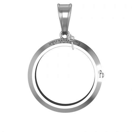 Key Moments Large Silver Pendant 33mm 8KM-P00003