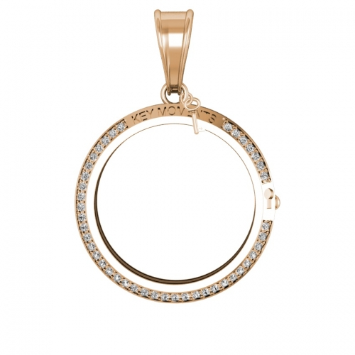 Key Moments Large Rose Gold CZ Pendant 33mm 8KM-P00020