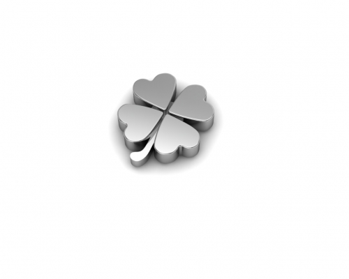 Key Moments Silver 4 Leaf Clover Element 8KM-E00005