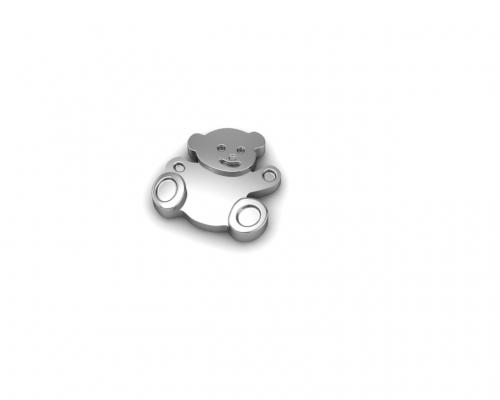 Key Moments Silver Teddy Bear Element 8KM-E00010