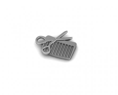 Key Moments Silver Scissors & Comb Element 8KM-E00013