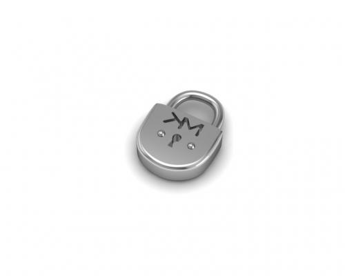 Key Moments Silver Lock Element 8KM-E00014