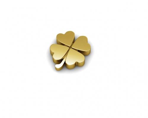 Key Moments Gold 4 Leaf Clovers Element 8KM-E00193