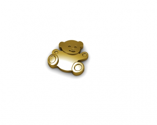 Key Moments Gold Teddy Bear Element 8KM-E00198