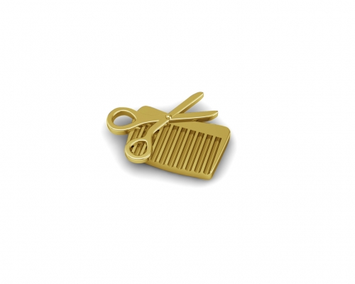 Key Moments Gold Scissors & Comb Element 8KM-E00201