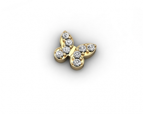 Key Moments Gold Butterfly Stones Element 8KM-E00048
