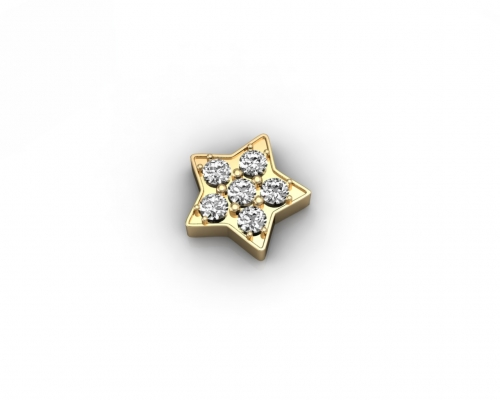 Key Moments Gold Star Stones Element 8KM-E00050